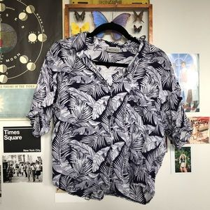 VINTAGE Tropical style buttoned shirt